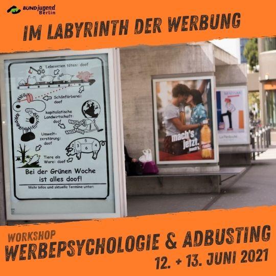 Workshop: Werbepsychologie & Adbusting am 12. + 13.6.2021